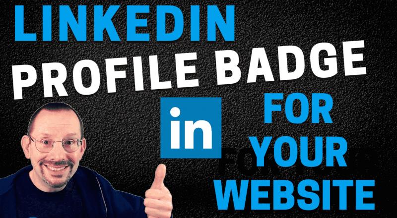 Add LinkedIn Profile Badge to Your WordPress website