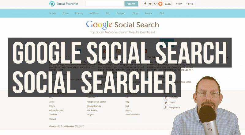 Google Social Searcher