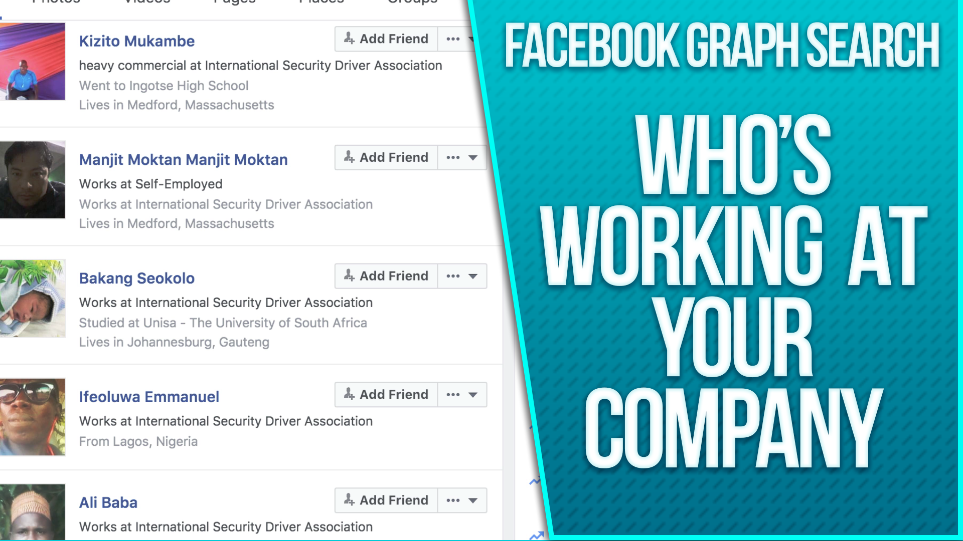 Facebook Graph Search - Monitor Who Works for Your Company