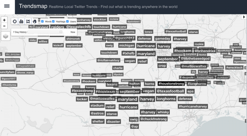 Twitter Trendsmap