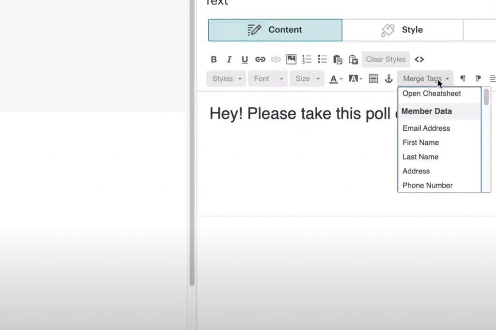 Open Mailchimp Merge tag cheatsheet