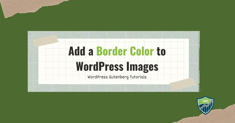 Add a Border Color to WordPress Images