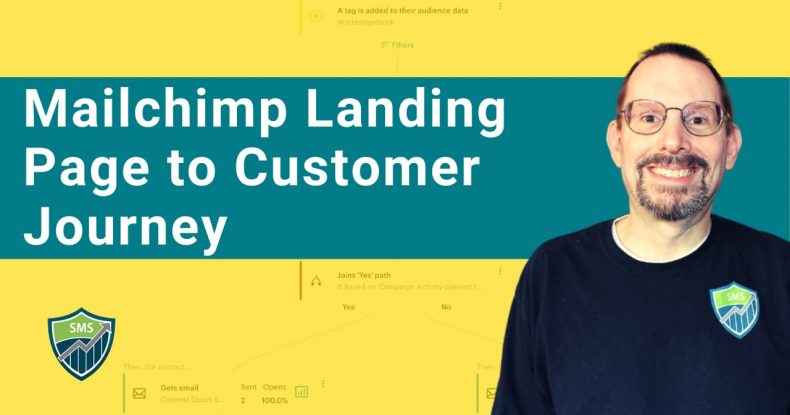 Mailchimp Landing Page connected to Customer Journey